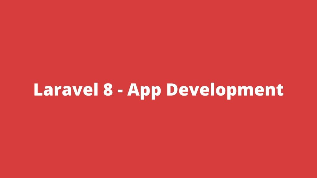 How to create an application in Laravel 8?